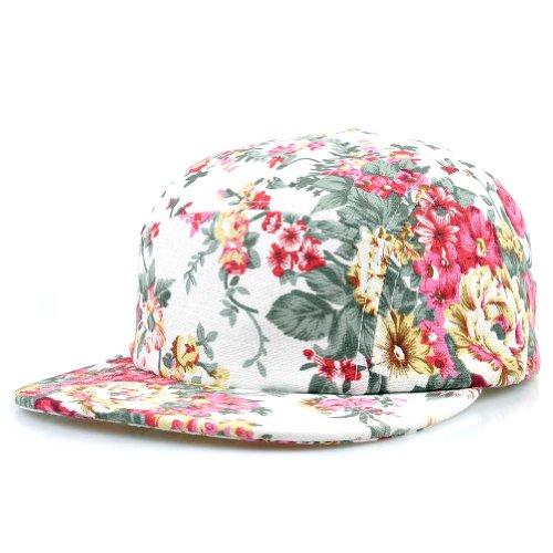 LOCOMO Women Flower Floral Blossom Vintage Baseball Snapback Cap FFH064