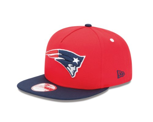 NFL New England Patriots 9Fifty Turnover Snapback 2 Tone Cap, Red/Blue
