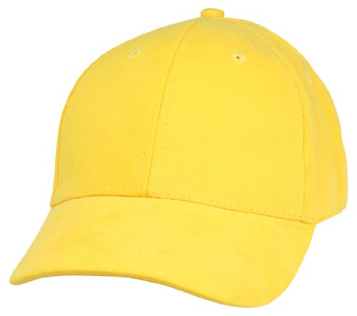 Unisex Hat Hat Fine Brushed Cotton Ball Cap in Yellow