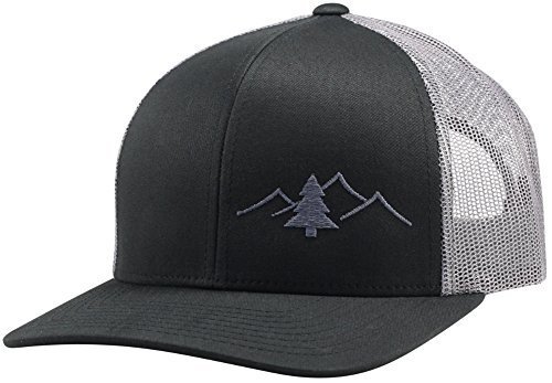 Trucker Hat - Great Outdoors Collection - by Lindo (Black/Graphite)