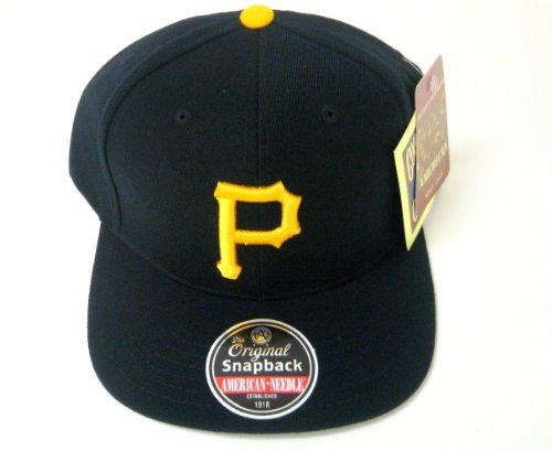 MLB Men's Pittsburgh Pirates Cooperstown 400 Snapback Cap (Black, Adjustable)