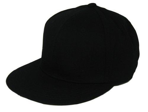 L.O.G.A. Plain Adjustable Snapback Hats Caps (Many Colors). Black