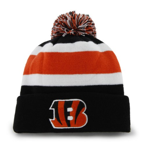 NFL Cincinnati Bengals Men's Breakaway Knit Cap, One Size, Black