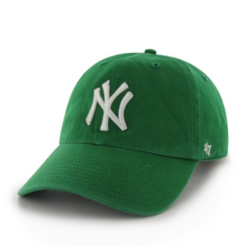 MLB New York Yankees '47 Brand Clean Up Adjustable Cap, One Size, Kelly