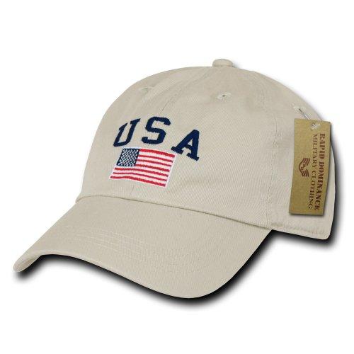 Rapiddominance Polo Style USA Cap, Stone