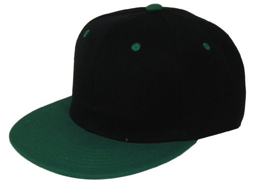 L.O.G.A. Plain Adjustable Snapback Hats Caps (Many Colors). Black/Green