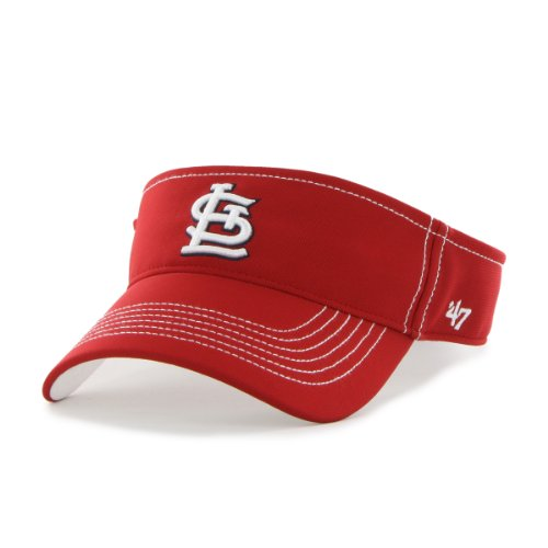 MLB St. Louis Cardinals '47 Brand Defiance Visor, One Size, Red