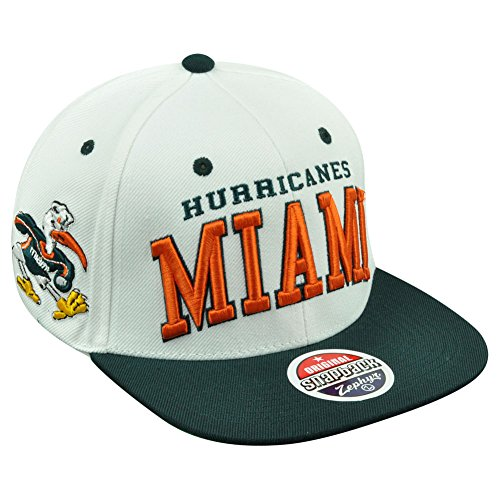 Zephyr Miami Hurricanes White-Green Superstar Snapback Hat