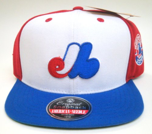 MLB Men's Montreal Expos Blockhead Snapback Cap (Multi, Adjustable)