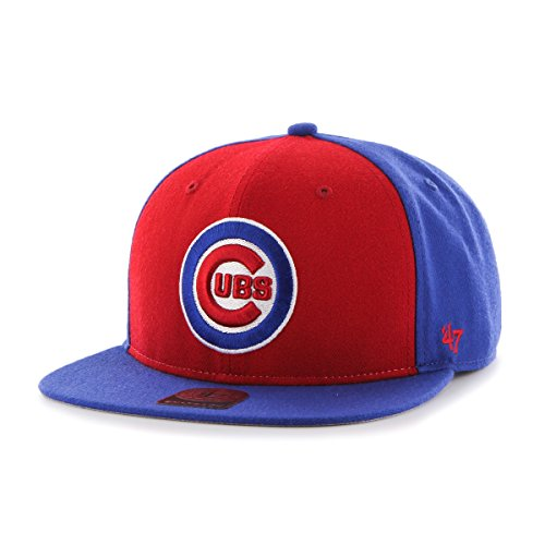 MLB Chicago Cubs Sure Shot Accent Captain Adjustable Snapback Hat, One Size, Royal