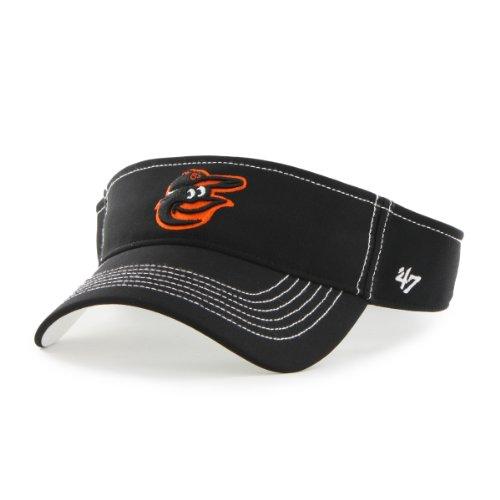 MLB Baltimore Orioles '47 Brand Defiance Visor, One Size, Black