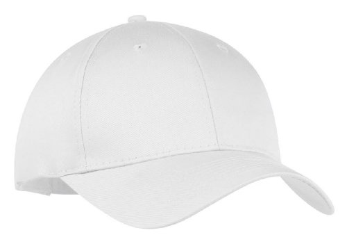 Port and Company Youth 6 Panel Twill Cap, White