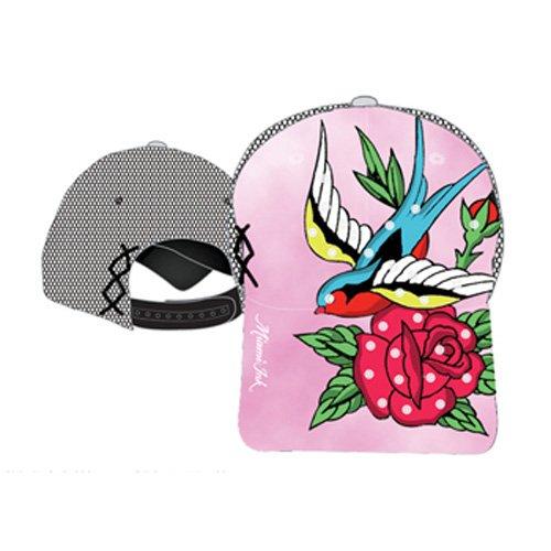 Miami Ink Tattoo Art Womens Mesh Snapback Bird Flower Ladies Tie Dye Hat Cap
