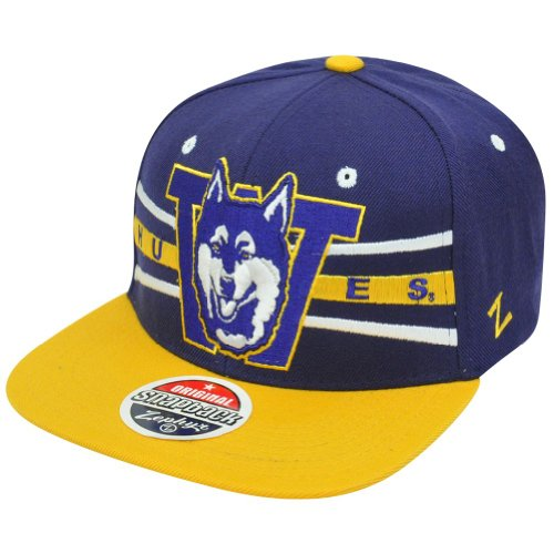 NCAA Washington Huskies Zephyr Front Runner Snapback Cap Flat Bill two Tone Hat Cap