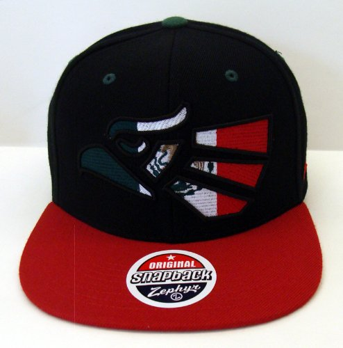 Mexico Zephyr Baseball Soccer Mens Snapback Cap Hat Black Red