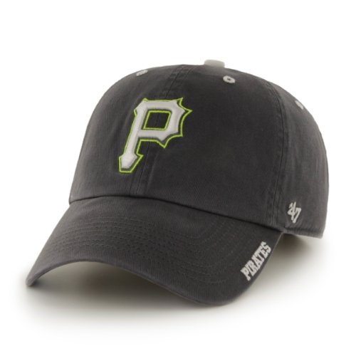 MLB Pittsburgh Pirates '47 Brand Ice Adjustable Cap, One Size, Charcoal