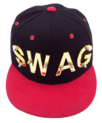 YMAC New York Women's Swag Plated / Snap Back Adjustable Black & Red
