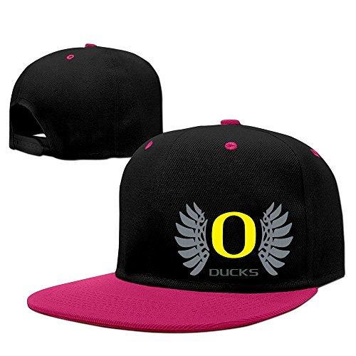 Unisex Oregon Wings Ducks Logo Hip Pop Baseball Hat Snapback Hat Pink