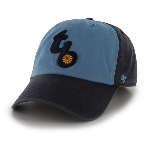 MLB Tampa Bay Rays '47 Brand Clean Up Adjustable Cap-Throwback Logo, One Size, Navy