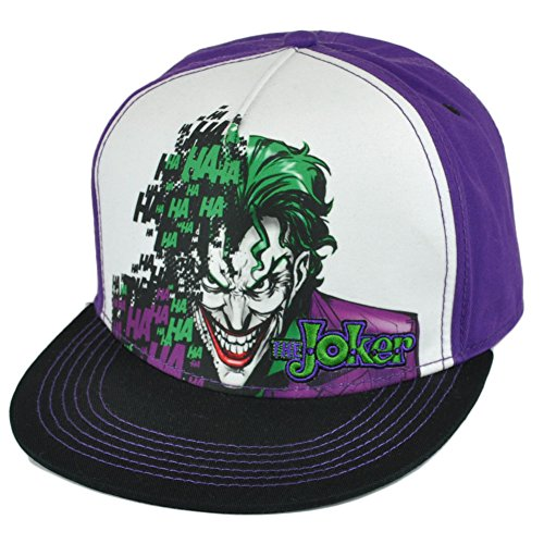 DC Comics Batman The Joker Villain Dye Sublimation Snapback cap with Flat Bill