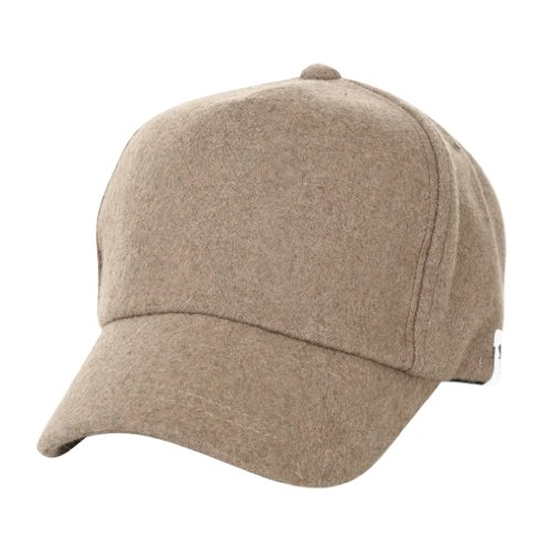 ililily Wool Vintage Baseball snapback Cap with Adjustable Strap Simple Winter Cap (ballcap-628-5)