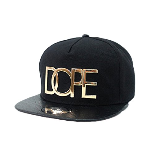 Coromose® Fashion Cool Adjustable Snapback Hip-hop Baseball Cap Hat Unisex (Black)