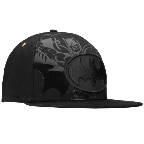 Batman - Mens Batman - Blackout Logo Snap Back Cap Black
