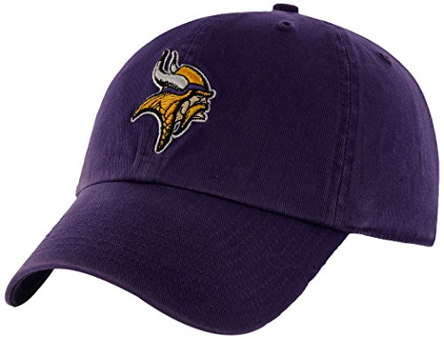 NFL Minnesota Vikings Clean Up Adjustable Hat, Purple, One Size Fits All Fits All