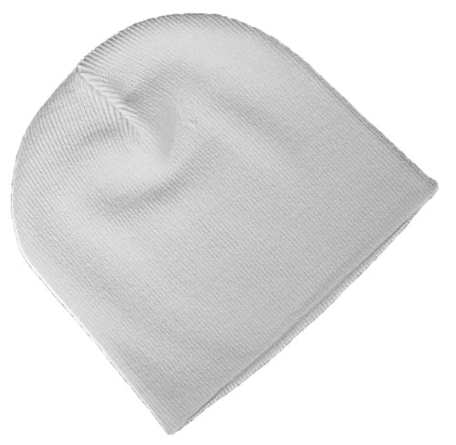 Admiral Toque Knit Beanie Cap, White